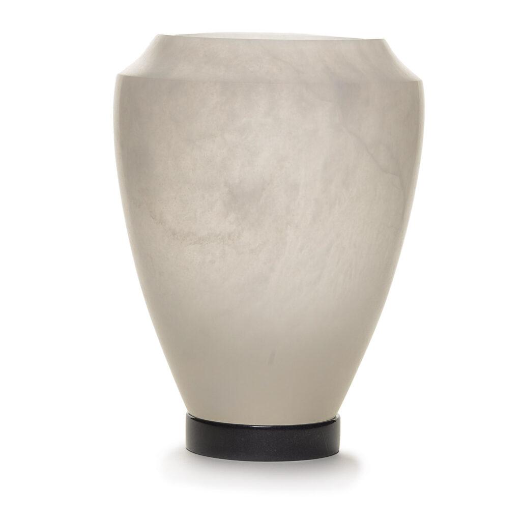 alabaster vase by richard flottemesch