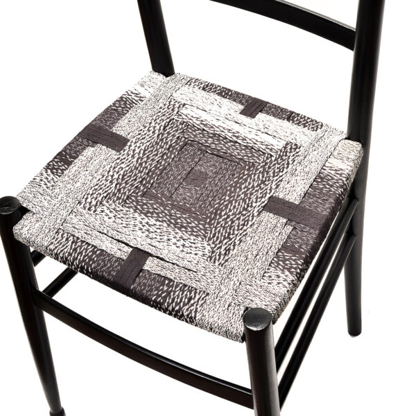 convolution black, white, and everything in between chair
