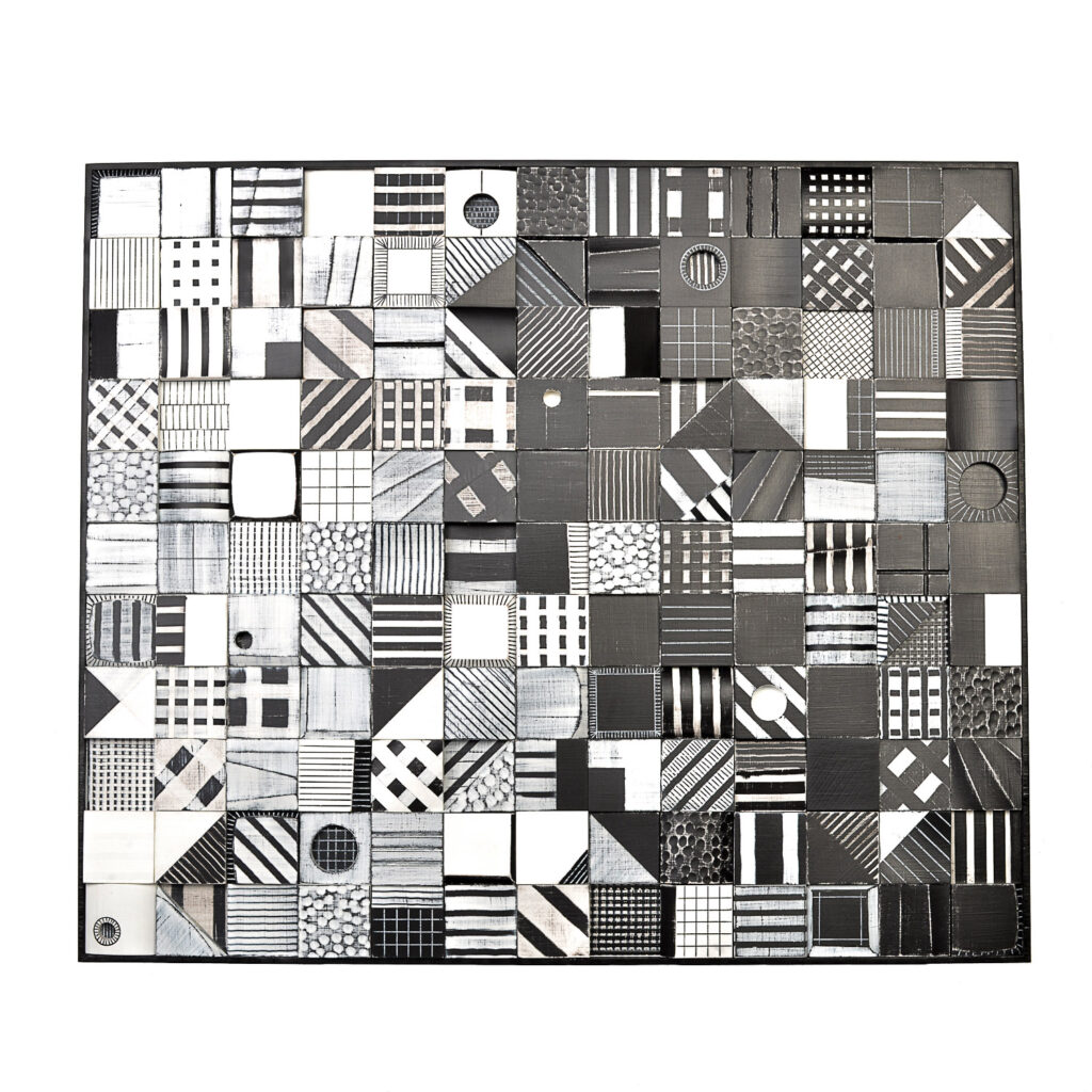 wooded wall piece black and white gallery