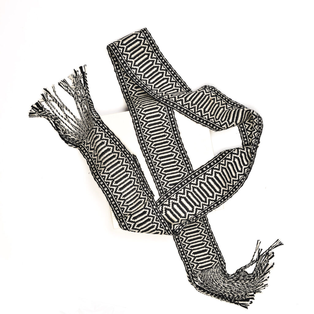 black and white sash by pam howard