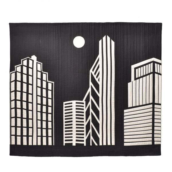 the city quilt by Barbara Swinea