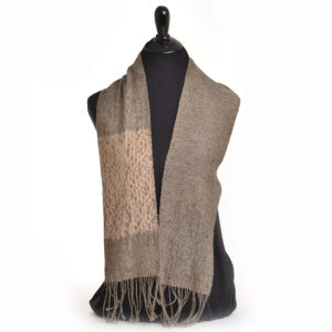 hand-woven shibori scarf
