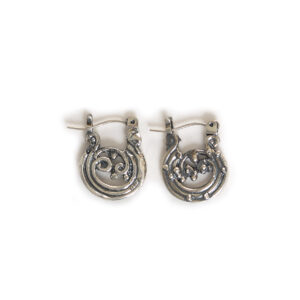 wave hoop small earrings