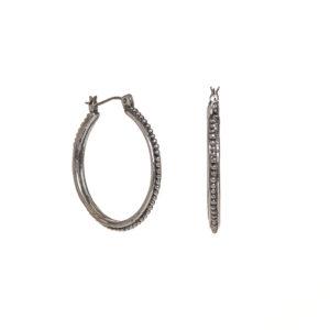 etruscan hoop earrings large silver