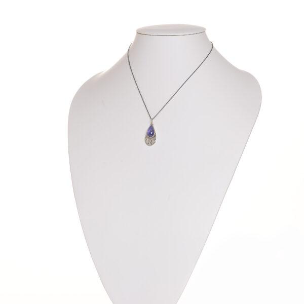Tanzanite fine solver granulated pendant